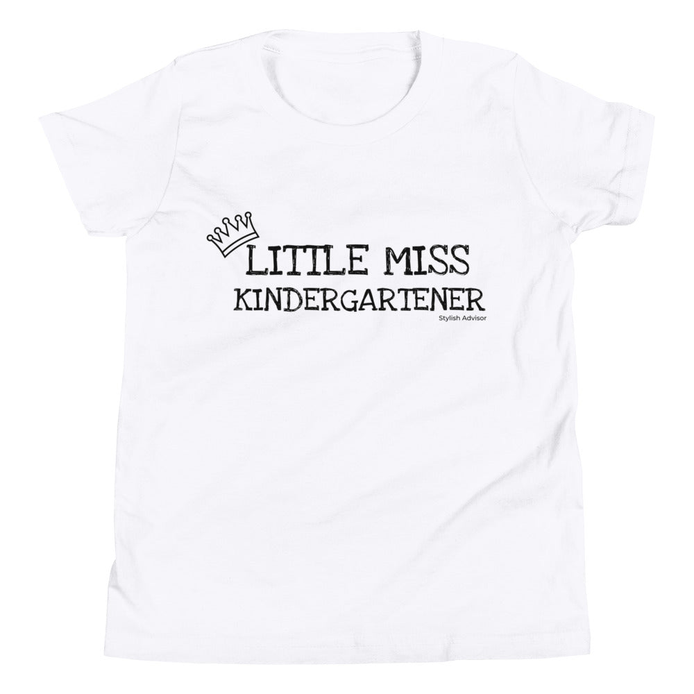 Little Miss Kindergartener Youth Graphic T-Shirt