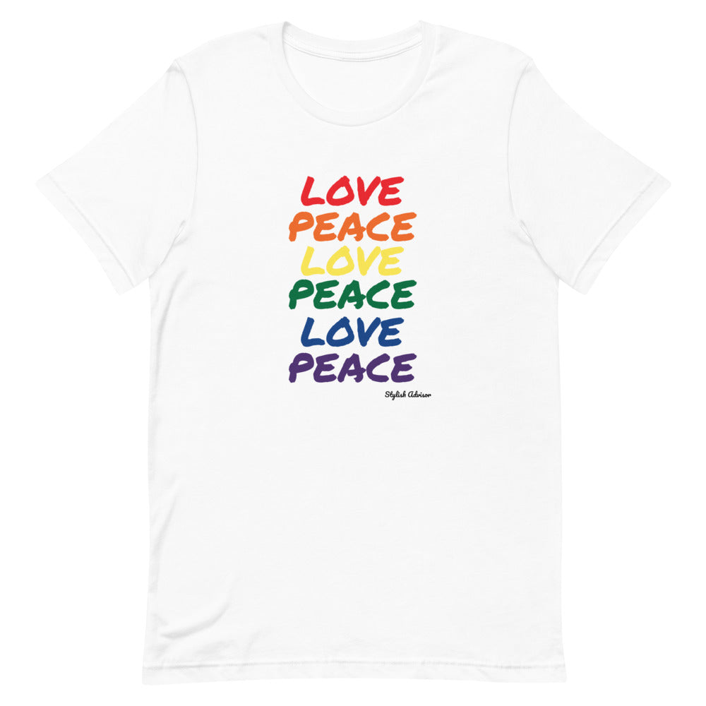 Love Peace Short-Sleeve Unisex T-Shirt Gay Pride