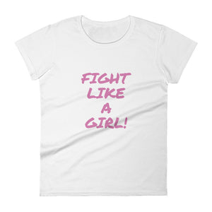 Breast Cancer Awareness Fight Like A Girl Women's short sleeve t-shirt