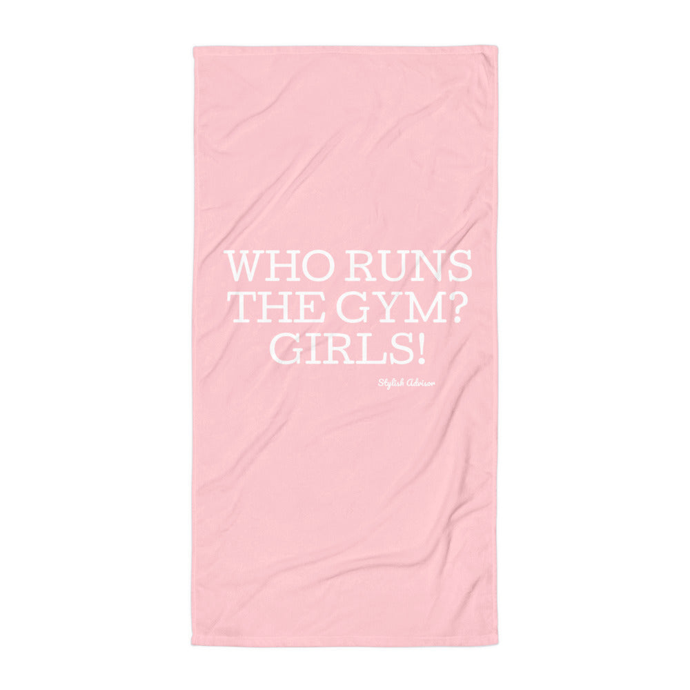 Who Runs The Gym? GIRLS Towel