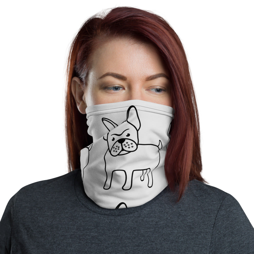 Light Gray French BullDog Face Mask | Neck Gaiter | Covid-19
