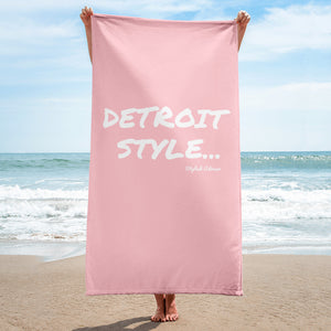 Detroit Style Beach / Pool Towel