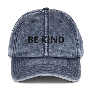 Be Kind Vintage Cotton Twill Cap