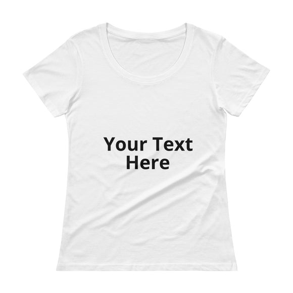 Personalize Your Own Ladies Sheer Scoopneck T-Shirt with Tear Away Label