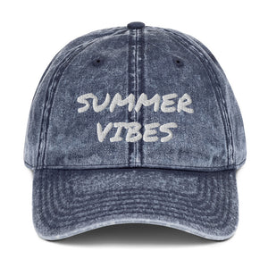 Summer Vibes Vintage Cotton Twill Cap