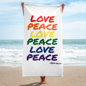 Love Peace Beach / Pool Towel
