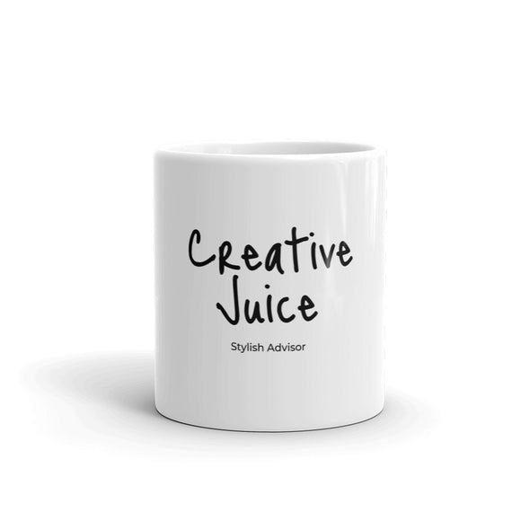Stylish Advisor Creative Juice  White Glossy Mug