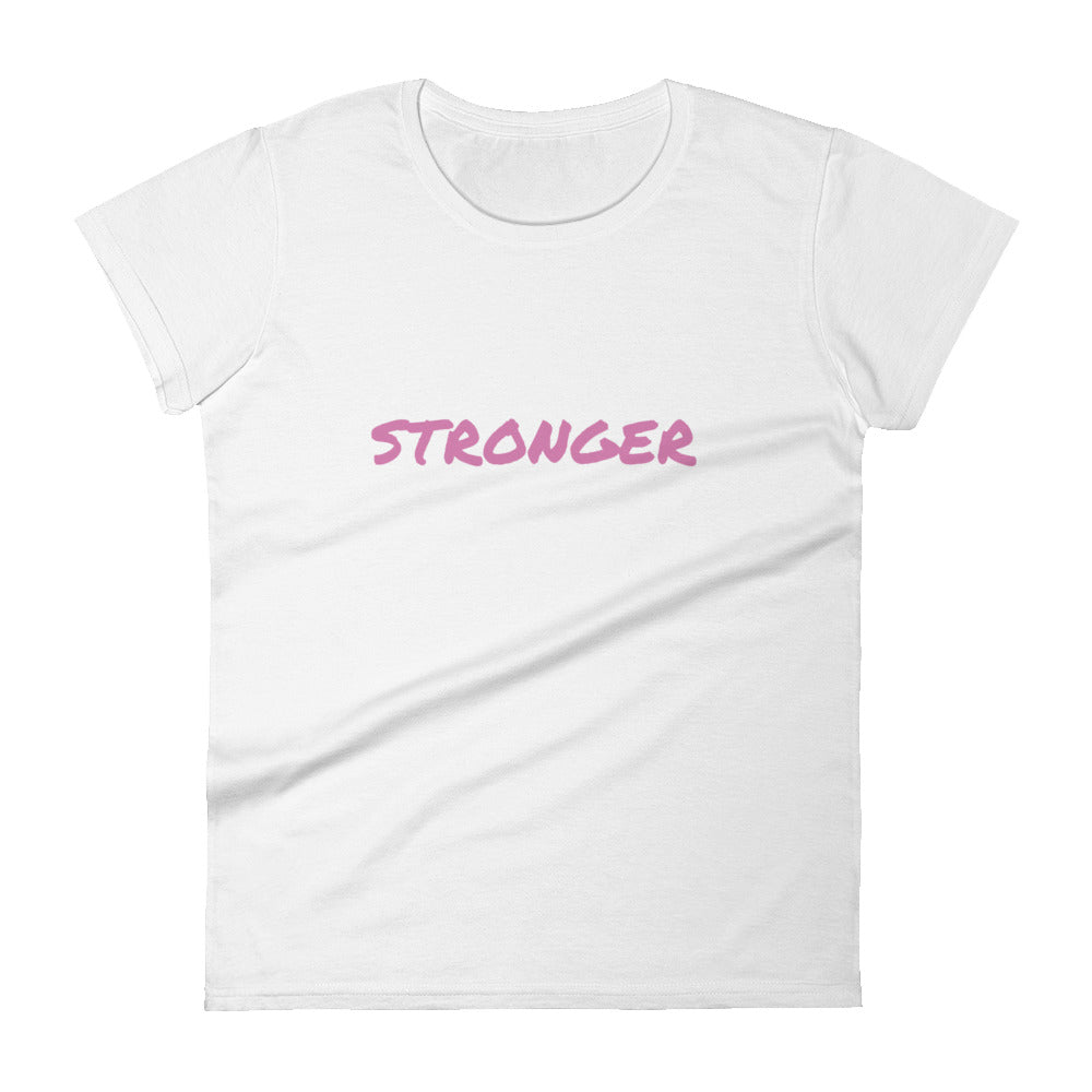 Breast Cancer Awarness Stronger Women's short sleeve t-shirt