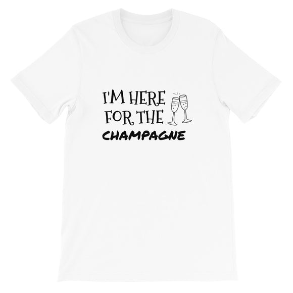I'm Here For The Champagne NYE Unisex T-Shirt | Couple NYE Shirt | New Year's Eve Shirt | NYE Shirt Woman