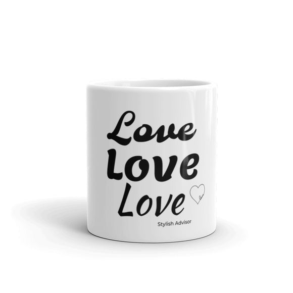 Stylish Advisor Love White Glossy Mug