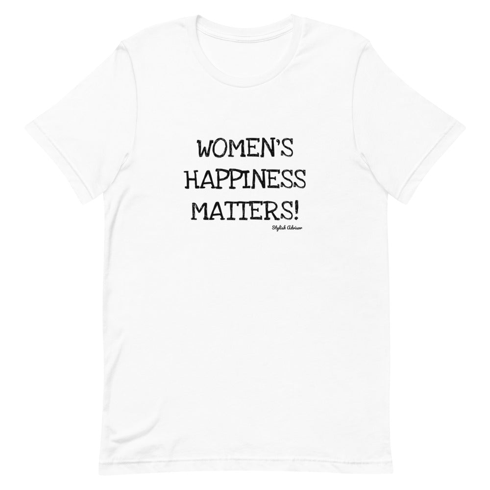 Women's Happiness Matters Short-Sleeve Unisex T-Shirt