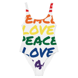 LOVE PEACE One-Piece Swimsuit