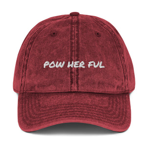 POW HER FUL Vintage Cotton Twill Cap
