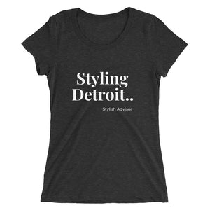 Stylish Advisor Styling Detroit  Ladies' Triblend Short Sleeve T-Shirt