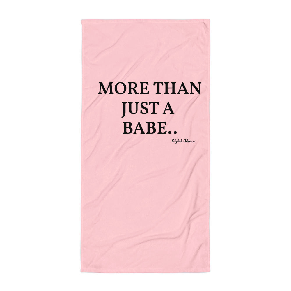 More Than Just A Babe Beach / Pool Towel