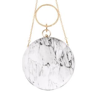 Stylish Advisor Boutique Marble Pattern Round Messenger Bag Spring 2019