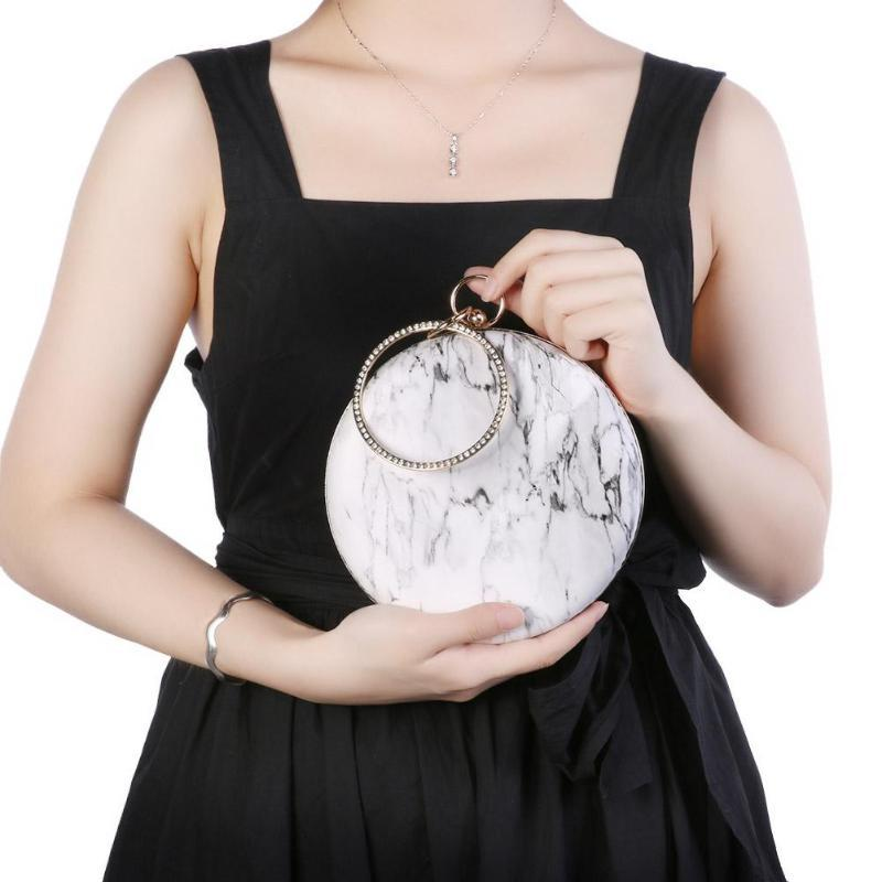 Marble Pattern Unique Circular Purse | Gift Ideas | Mother's Day