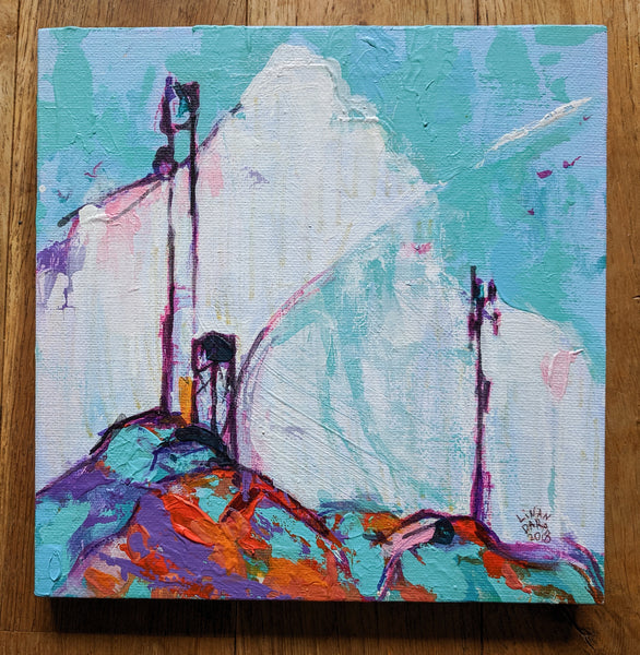 Mobile Masts, an original painting