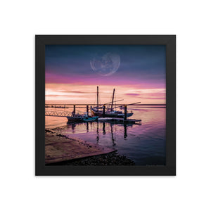 Surreal Harbor Framed photo paper poster