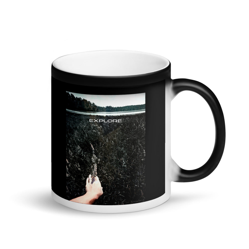 Explore the Wild Matte Black Magic Mug