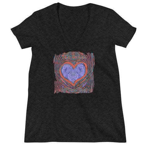The Heart of The Mind Women's Fashion Deep V-neck Tee