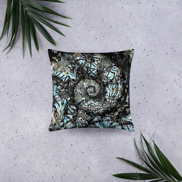 Dark Spiral Pillow