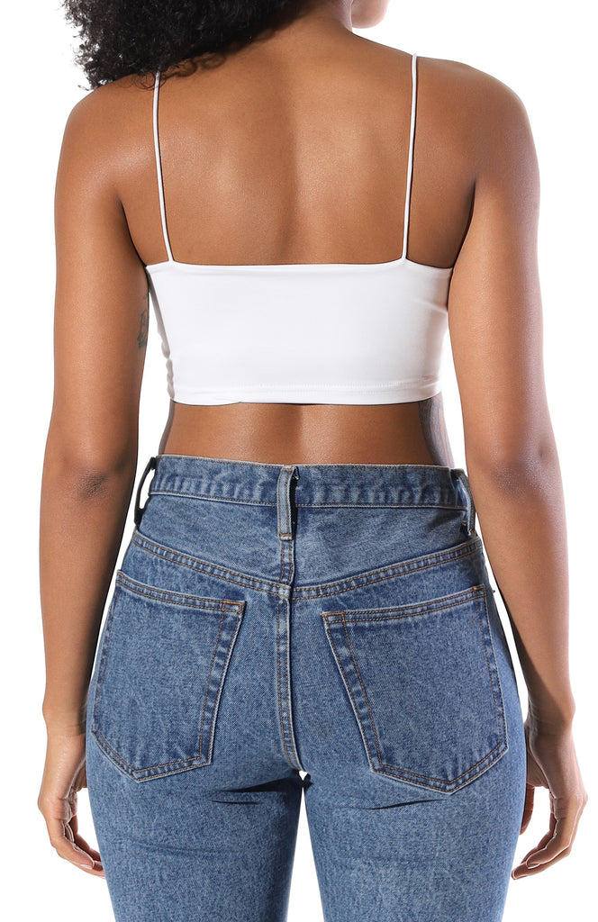 Kylie Crop Top - White