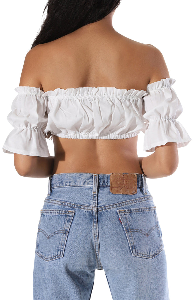Clara Crop Top - White