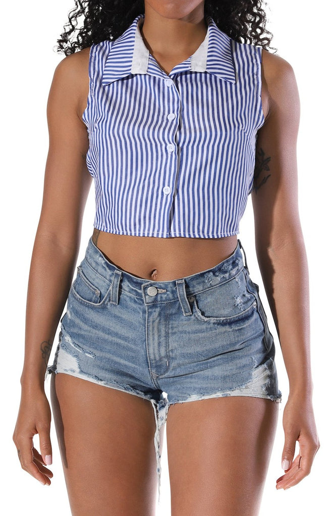 Jocelyn Striped Crop Top