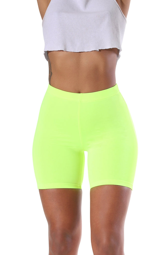 Gia Biker Shorts - Neon Green