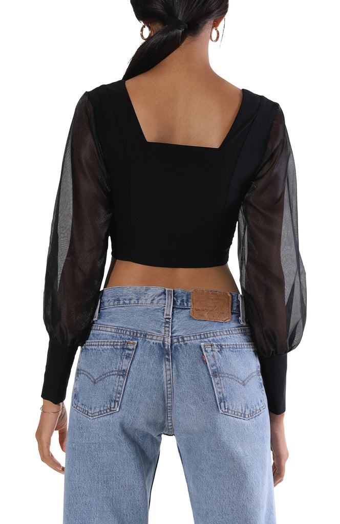 Maci L/S Crop Top