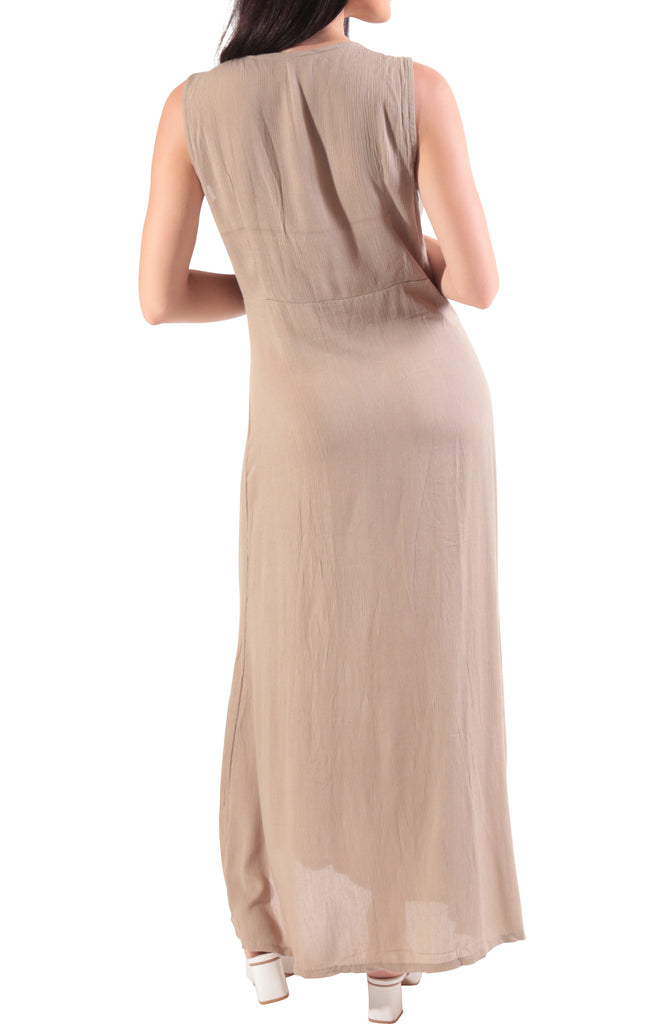 Gabriella Maxi-Dress - Taupe
