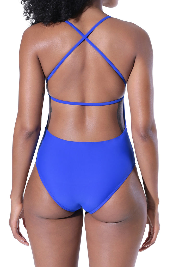 Camila One Piece Swimsuit - Blue