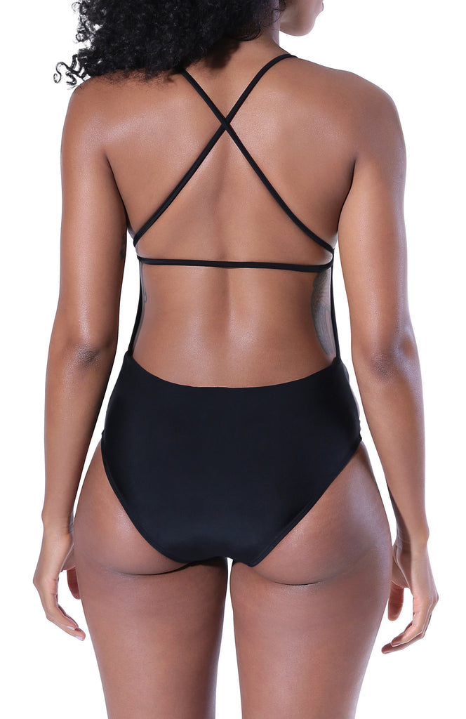 Camila One Piece Swimsuit - Black