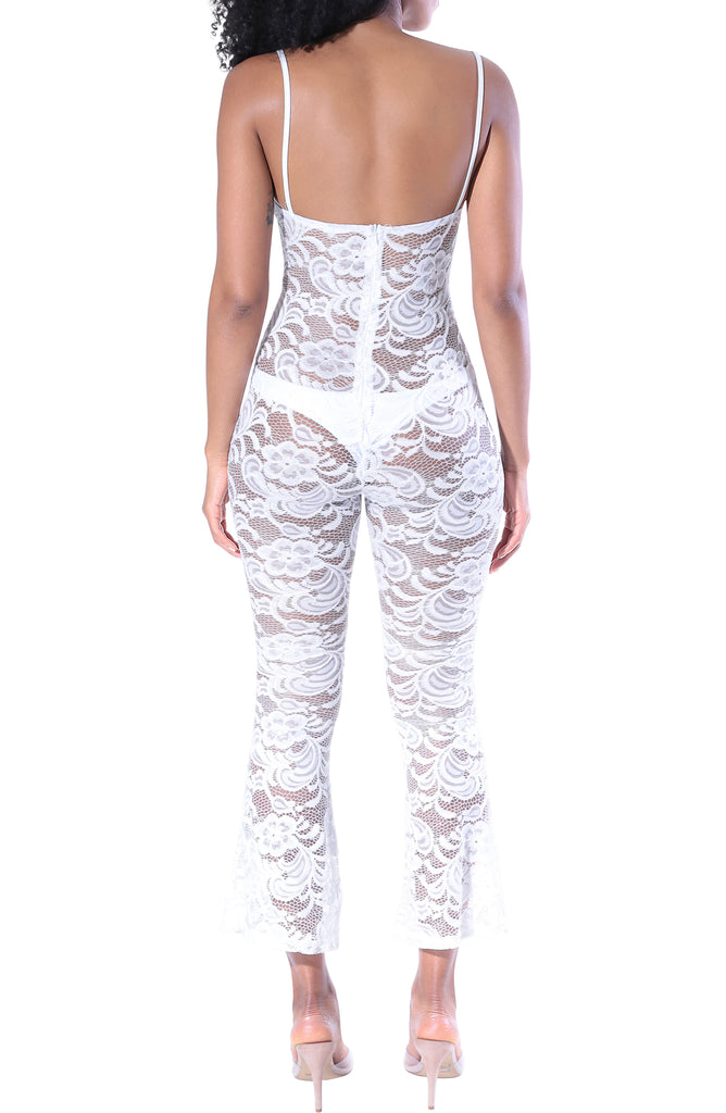 Estelle Lace Jumpsuit - White