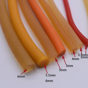 1 Meter  Diameter 5-6MM Solid Elastic Rubber (without hole) Natural Latex Yoga rope Used For Sports  Exercise and fitness