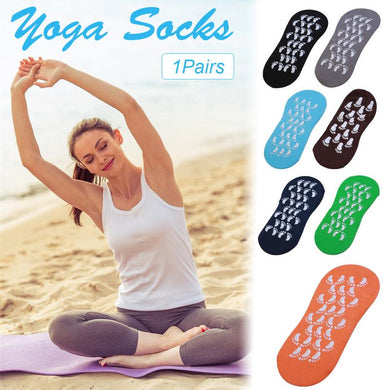 1 Pair Men Women Anti Slip Cotton Sports Yoga Socks Ladies Pilates Fitness Trampoline Socks Slippers