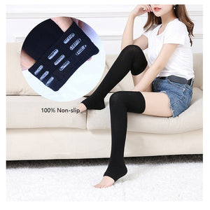 1 Pair Women Half Foot Yoga Socks Thicker Heel Pressure Knee-high Anti-friction Socks for Female Girl Indoor Yoga Exercise
