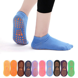 1 Pair Women Men Sports Yoga Socks Silicone Good Grip Anti-slip Male Ladies Ventilation Pilates Ballet Socks Dance Sock Slippers
