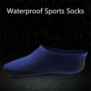 1 pair Fabric Waterproof Sports Socks Men Women Water Shoes Socks Beach Swim Surf Shoes Snorkeling Diving Non-slip durable