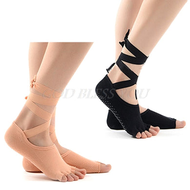 1 pair Women Yoga Socks 5 Toes Non-slip Massage Rubber Fitness Warm Socks Gym Dance Sport Exercise Barefoot Feel