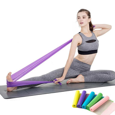 150cm Yoga Bands Health Exercise Stretching Resistance Belt Pull Strap Physical Therapy Elastic Bands Fitness Strength Training