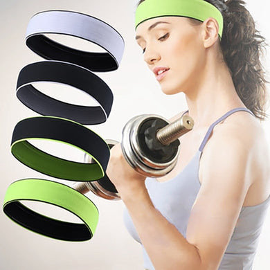 1PCS Headband Sweatband Elastic Breathable Sports Yoga Non Slip Athletic  Hair Band For Men Women Fitness Running Cycling