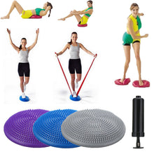 Load image into Gallery viewer, 33cm PVC Balance Yoga Balls Massage Pad Wheel Stability Balance Disc Massage Cushion Mat Ball Fitness Exercise Training ball