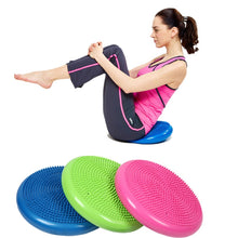 Load image into Gallery viewer, Durable Yoga massage cushion mat Universal Inflatable Yoga Wobble Stability Balance Disc Massage Cushion Mat Yoga Fitness Balls