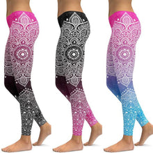 Load image into Gallery viewer, LI-FI Mandala Leggings Yoga Pants Women Fitness Push Up Tight Wear Gym Training Sports Running Leggings Elastic Trousers