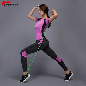Sexy Yoga Set Compressed Leggings Gym Fitness Clothes Tennis Shirt+Pants Plus Size Sport Suit Reflective Women Yoga Capris Set