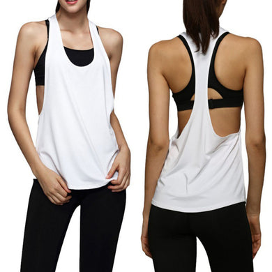 *Women Tank Tops Dry Quick Yoga Shirts Loose Gym Fitness Sport Sleeveless Vest Singlet Running Training Tops