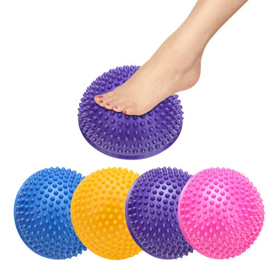 Yoga Half Ball Physical Fitness Appliance Exercise Balance Ball Point Massage Stepping Stones Pilates Balls