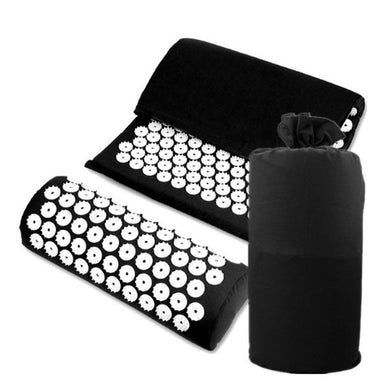 Yoga Lotus Spike Acupressure Mat Pillow Set Acupressure Massage Cushion Mat Relieves Stress Pain Body Massager With Carry Bag